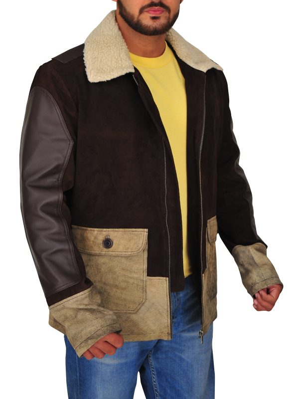 men's brown suede leather jacket, suede leather jacket for guys,