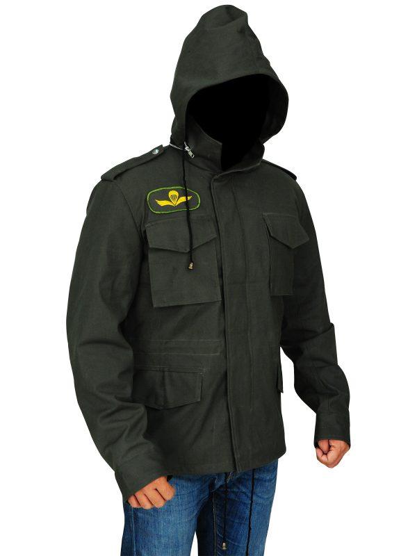 men green hoodie jacket, men's classic cotton jacket,