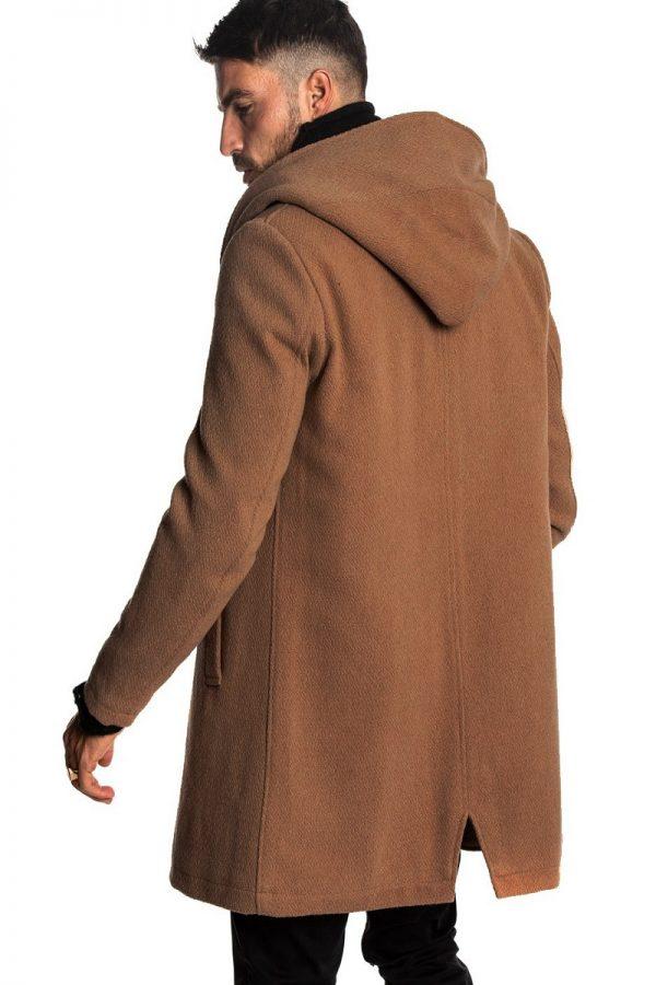 trending men brown wool coat