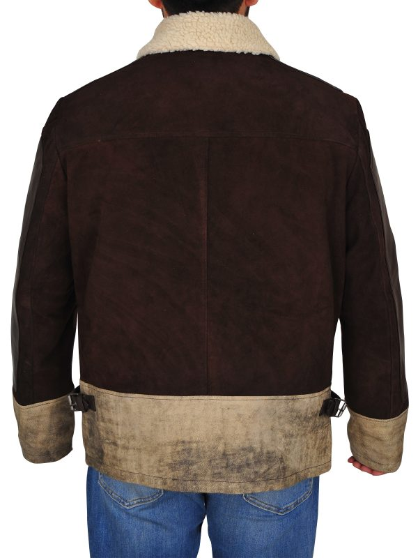 guy brown suede jacket, cool suede leather jacket,