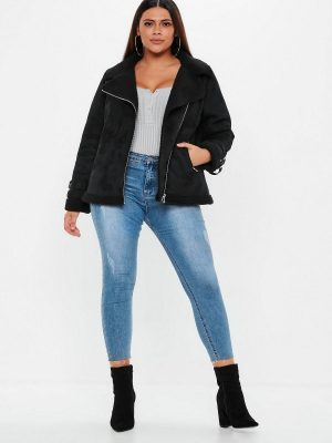 women pure shearling leather jacket