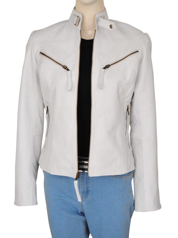 women motorcycle leather jacket, women bike rider jacket,