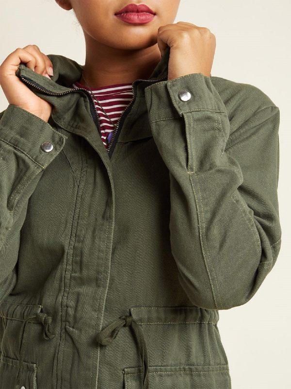 women green utility jacket