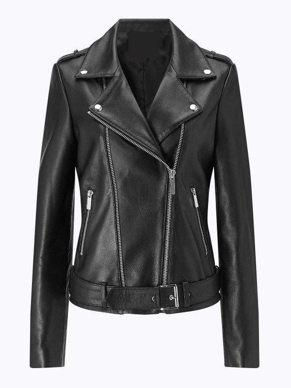 women biker leather jacket