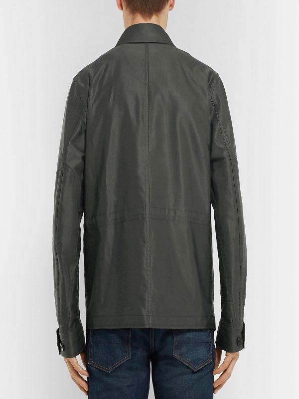 men grey cotton jacket