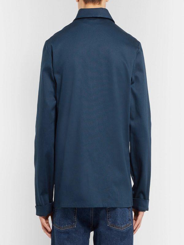 men light blue jacket
