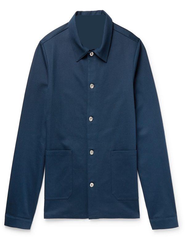 trending men blue cotton jacket