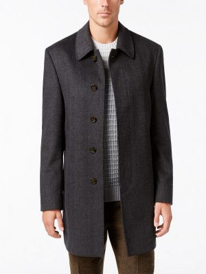 men grey wool coat