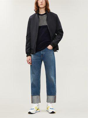 men navy blue jacket