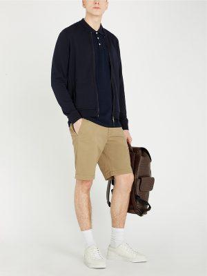 men navy blue varsity jacket