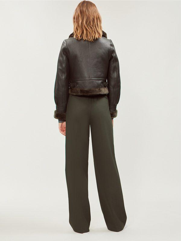 women black pure leather jacket