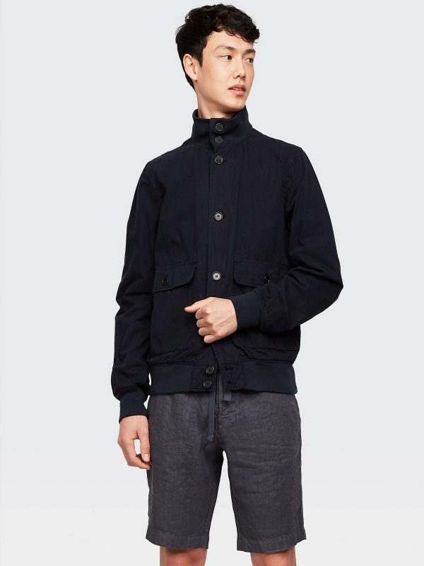 men navy blue outwear