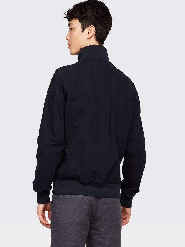 men pitch blue cotton jacket
