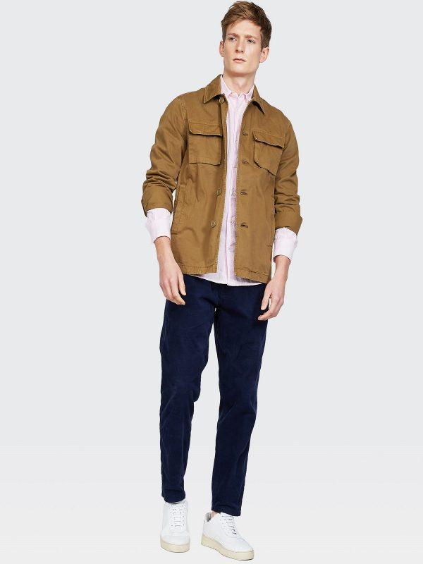 men light brown fleece coat
