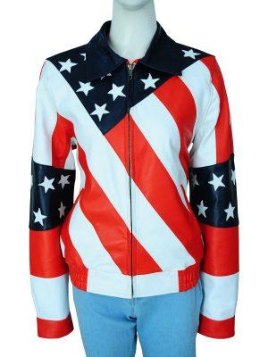 america's flag leather jacket, USA flag leather jacket,