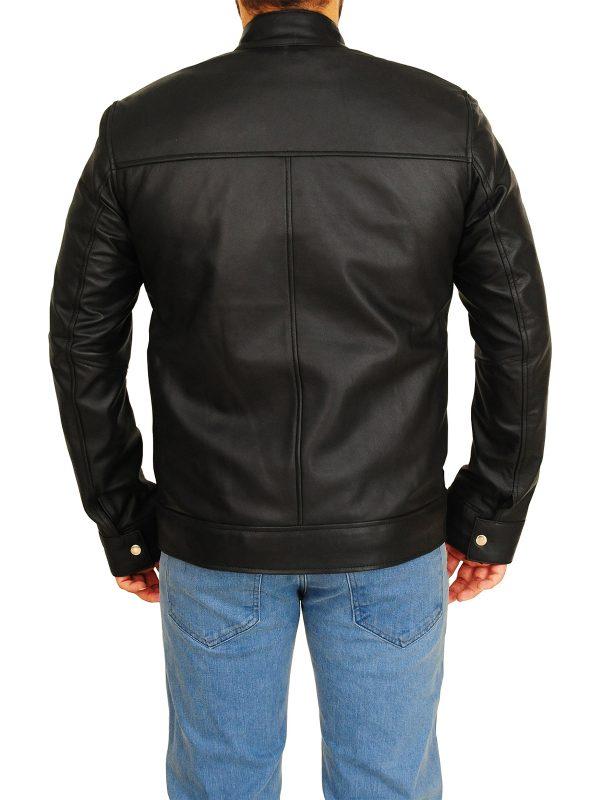 stylish black leather jacket, fashion black leather jacket,