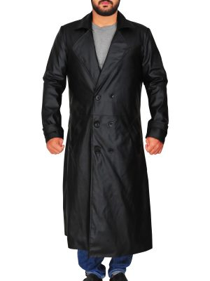 black trench coat for men, men black trench coat,