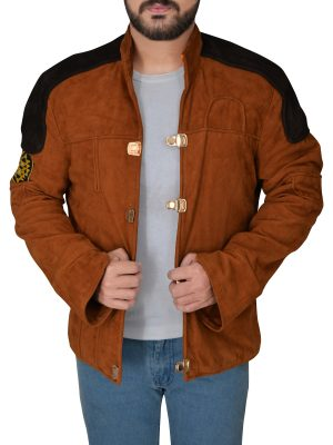 fashionable suede leather jacket, dashing suede leather jacket,