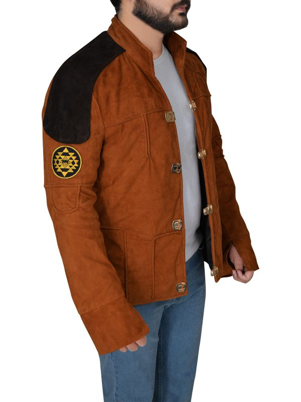 brown suede leather jacket, trendy suede leather ajcket,