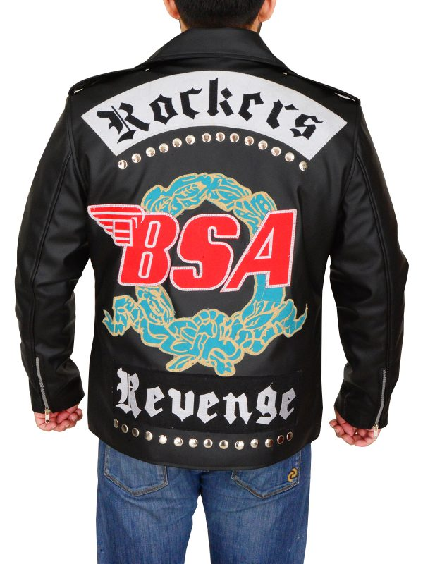 stylish rockstar leather jacket, rocker leather jacket,