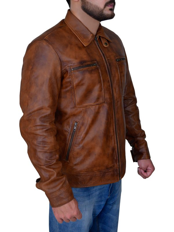 brown leather jacket, trending brown leather jacket,