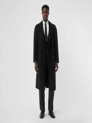trending men black wool coat