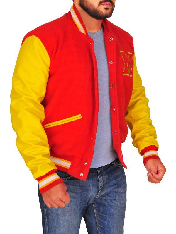 boy's varsity jacket, varsity leather jacket for boys,