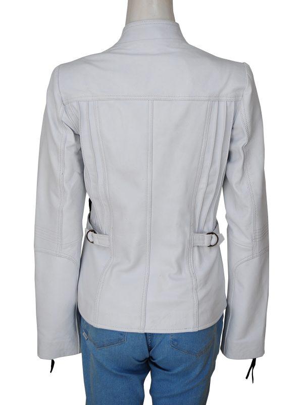 mauvetree women leather jacket, mauvetree white biker leather jacket,