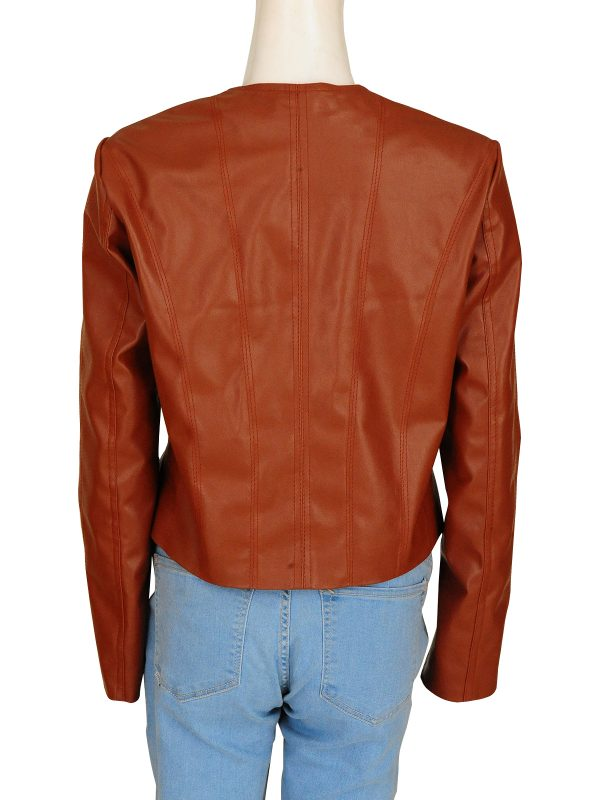 mauvetree fashion women leather jacket, mauvetree stylish brown leather jacket,
