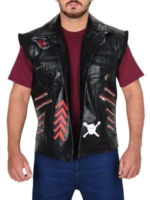 wrestler leather vest, trendy leather vest,