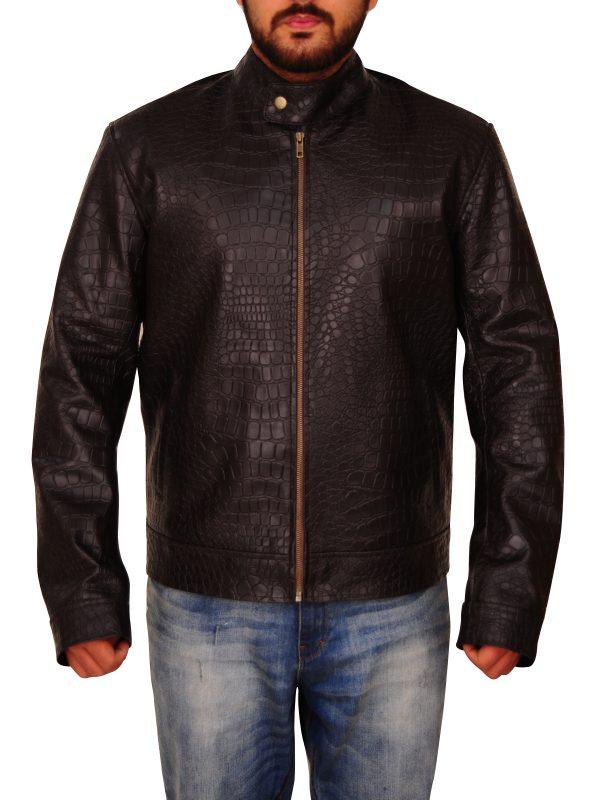 men snake skin jacket, men snake leather jacket,