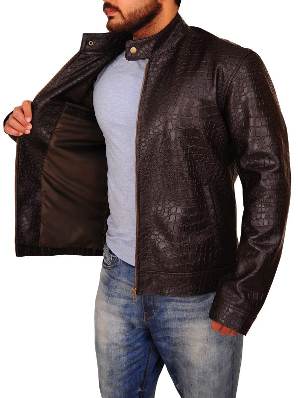 men crocodile leather jacket, crocodile leather jacket for men,