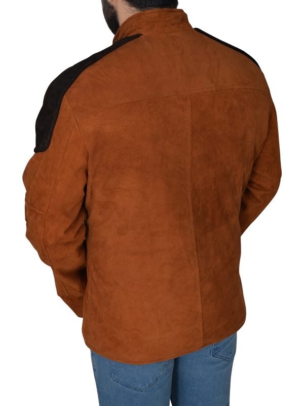 pure suede leather jacket, brown suede leather jacket,