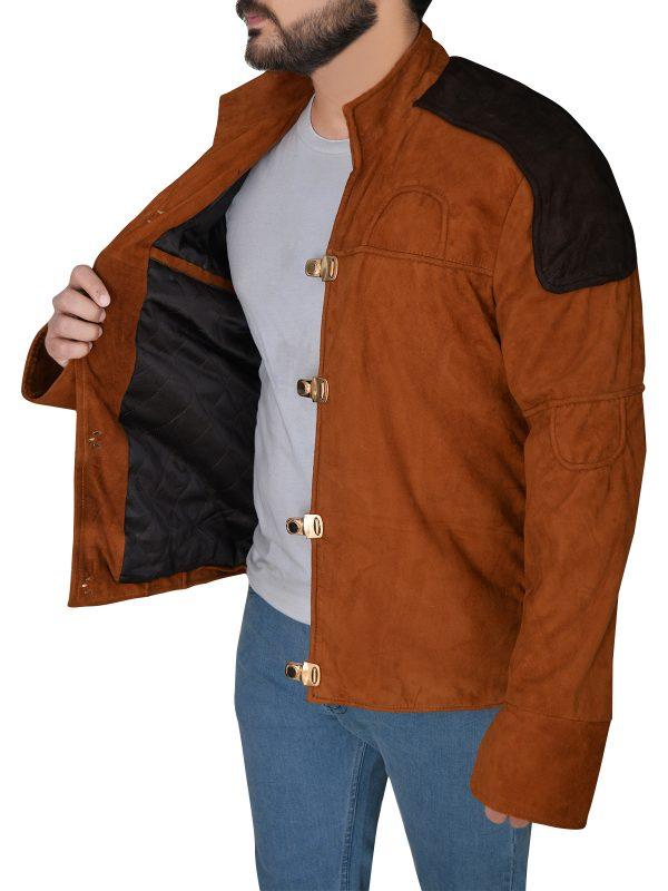 men brown suede leather jacket, suede leather jacket for men,