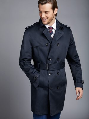 men blue coat
