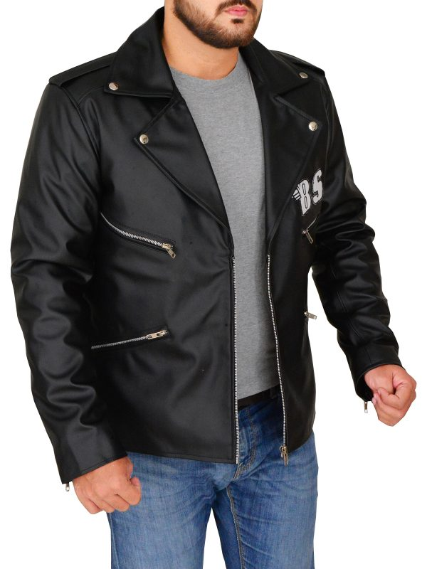 men black leather jacket, black leather jacket for men,
