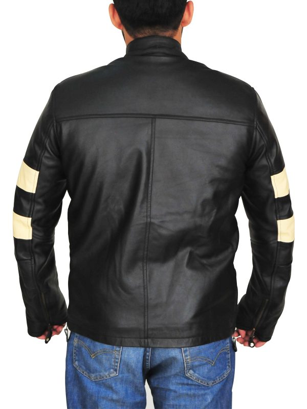black leather jacket for men, fast fashion black leather jacket,