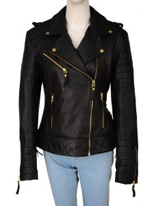women black biker jacket, women trendy biker jacket,