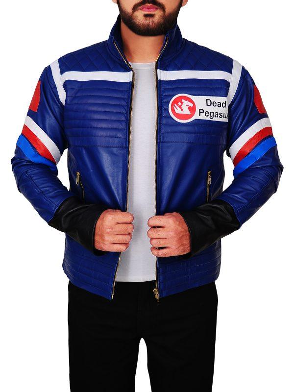 men blue leather jacket, blue leather jacket for men,