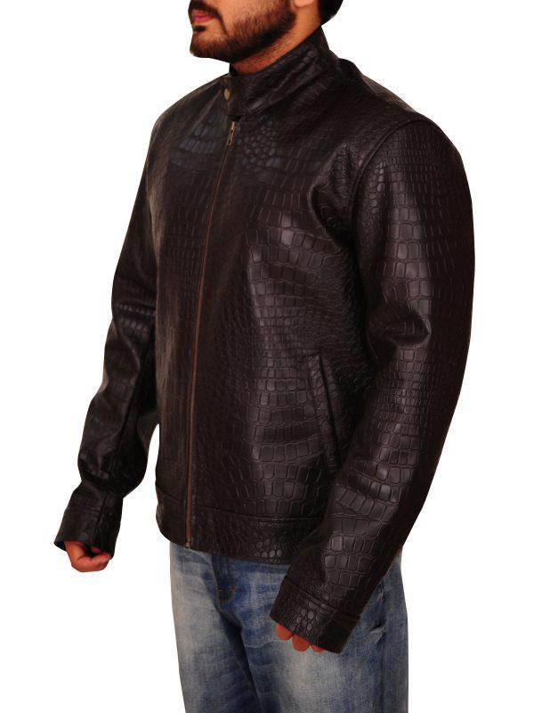 fashionable brown leather jacket, stylish brown leather jacket,