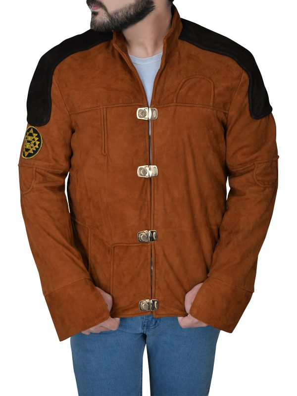 casual suede leather jacket, street fashion suede leather jacket,