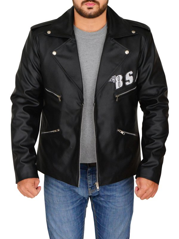 trending black leather jacket, rocker revenge black leather jacket,