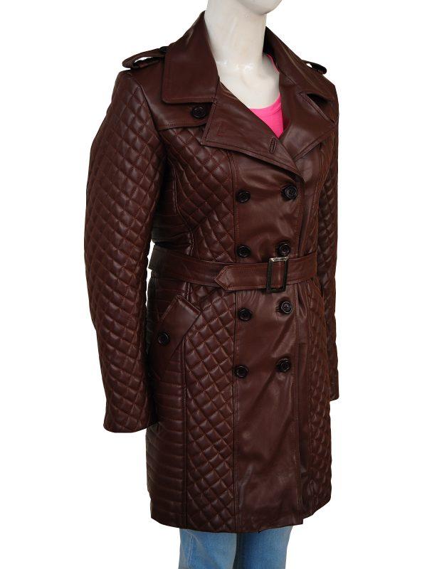 street fashion women brown leather coat, street style women brown leather coat,