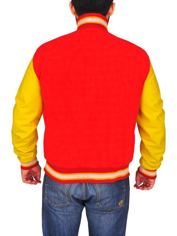 varsity leather jacket, men varsity leather jacket,