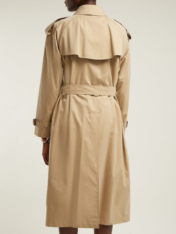 women beige cotton coat