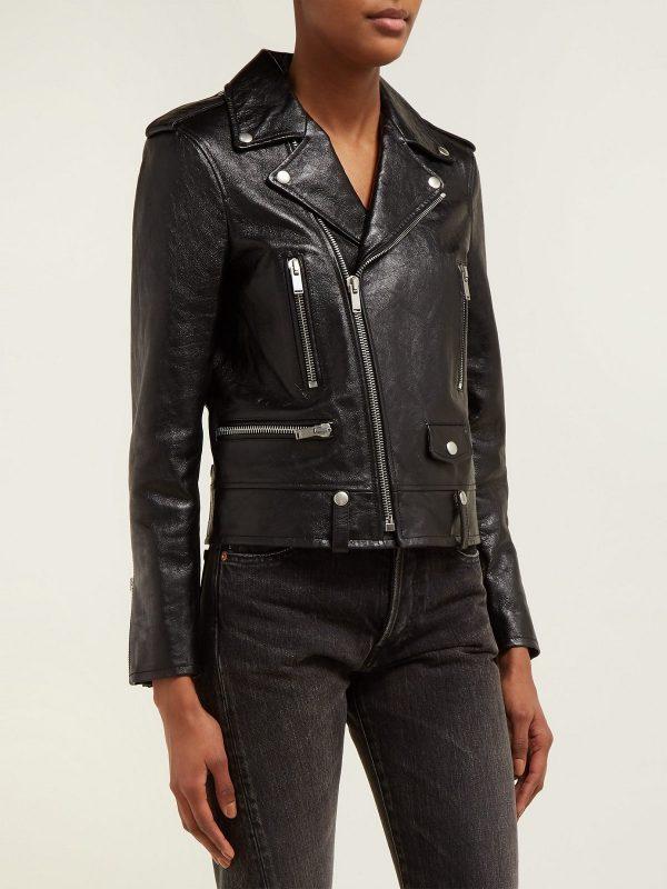 women black biker jacket