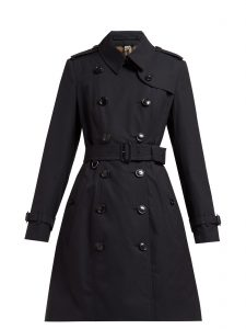 women cotton long trench
