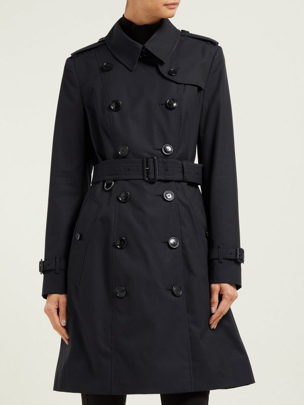 women pure cotton trench