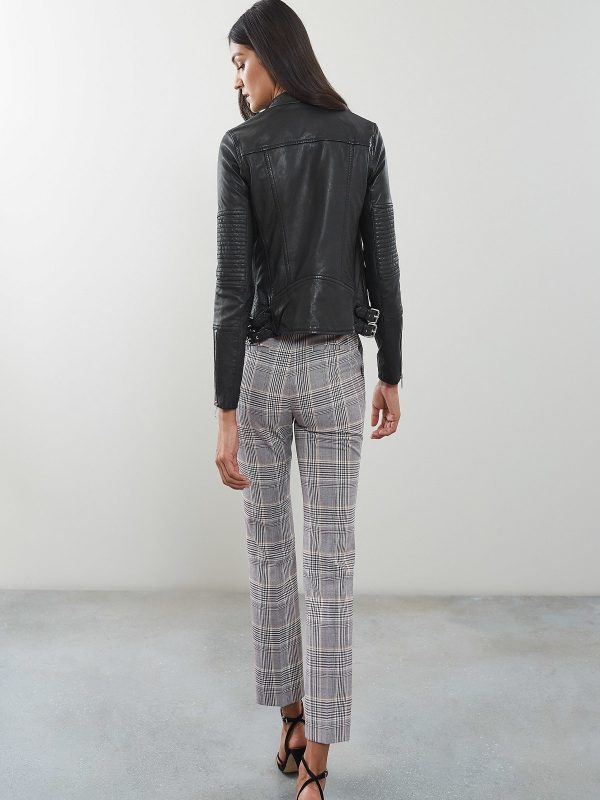 stylish women biker jacket