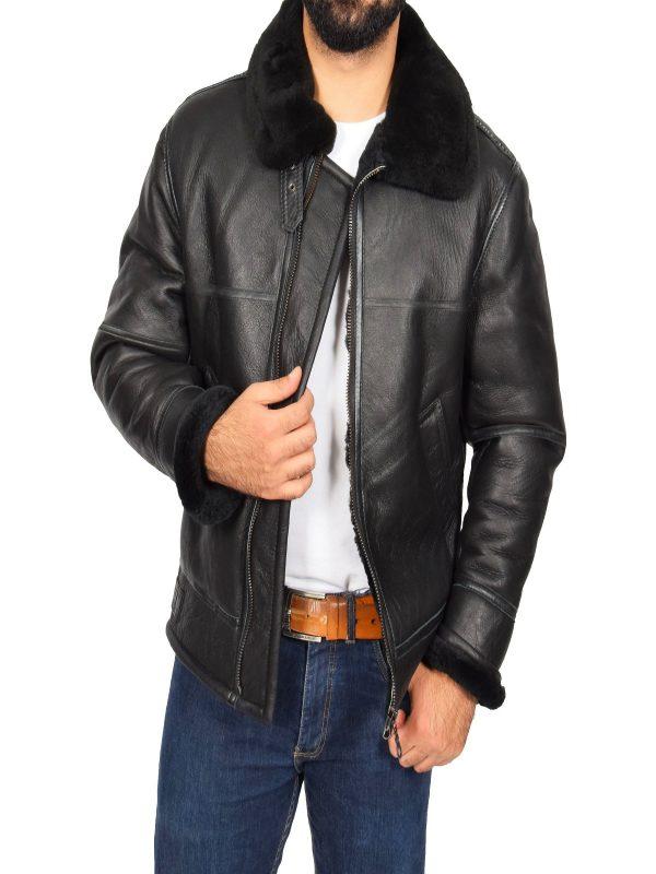 men black aviator jacket
